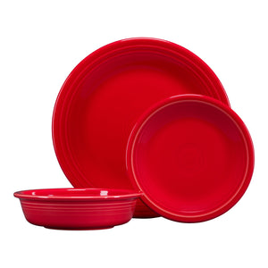 3pc Classic Place Setting - Scarlet