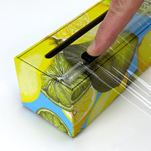 Load image into Gallery viewer, Lemon Plastic Wrap Dispenser