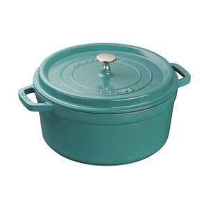 5.5QT Round Cocotte - Turquoise