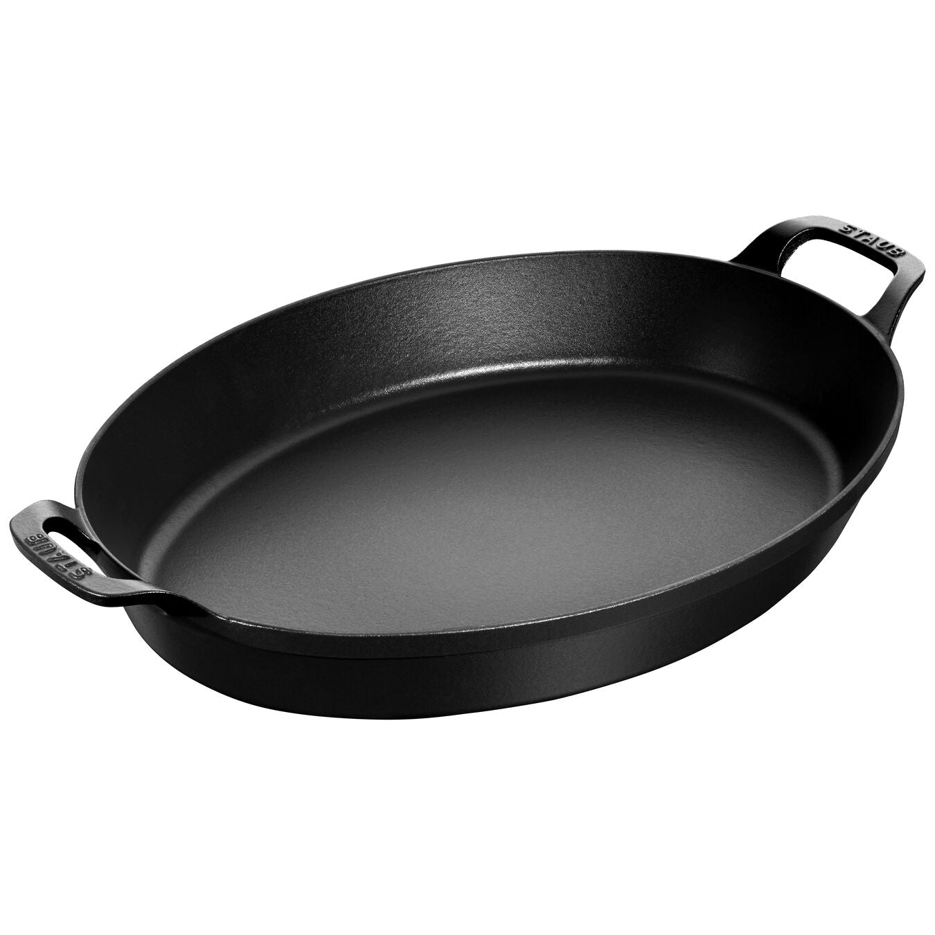 Oval Cast Iron Baking Dish - Matte Black