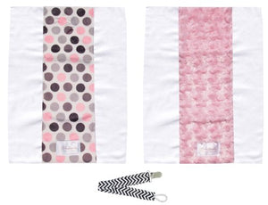 Pink Burp Cloth Set