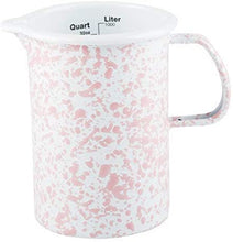 Load image into Gallery viewer, 1qt Enamel Measuring Pitcher