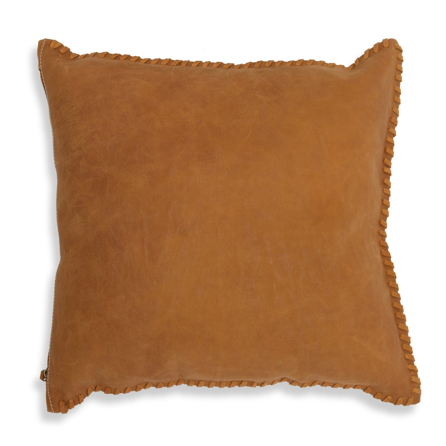 Leather Whip Stitch Pillow