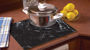 Glass Cutting Board - Black Marble