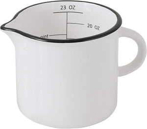 Stoneware B/W Measuring Cup