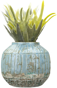 Distressed Turquoise Planter