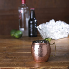 Load image into Gallery viewer, 16oz Hammered Copper Mug
