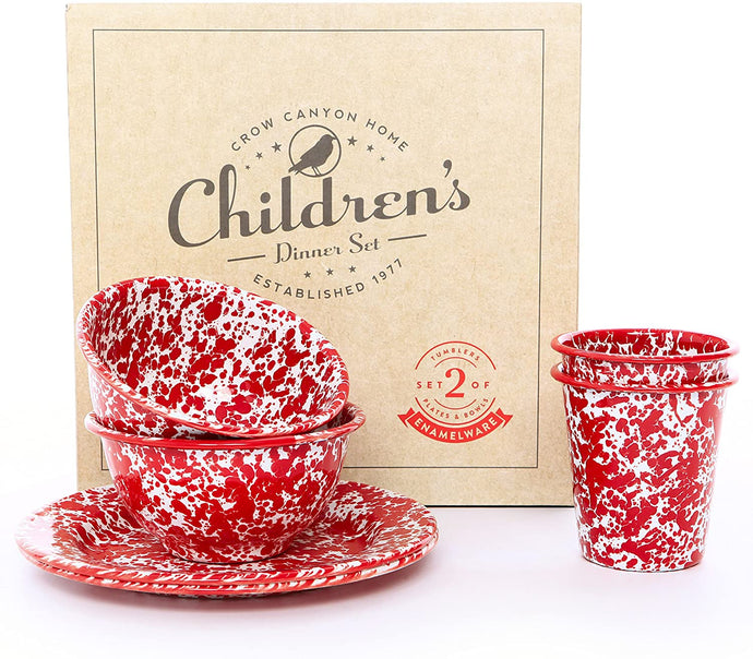 6pc Children's Enamelware Dinner Set