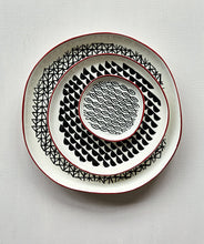 Load image into Gallery viewer, 3pc Stoneware Plate Set - Black & White