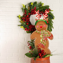 Load image into Gallery viewer, Peppermint Antler Gingerbread Man