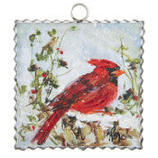 Perched Cardinal Charm