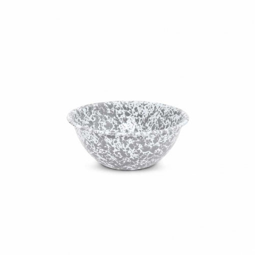 Small Enamel Serving Bowl - Grey