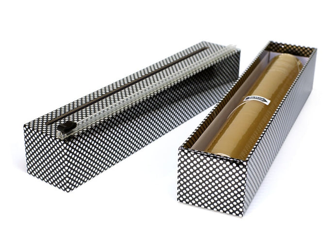Plastic Wrap Dispenser - Silver Dots