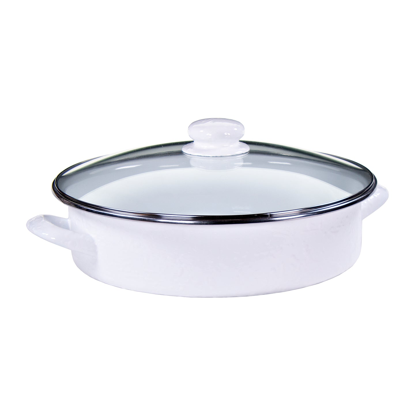 Large Saute Pan - White