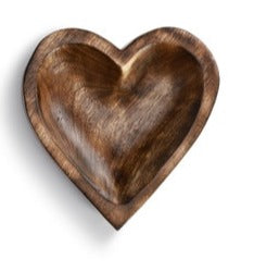 Small Wooden Heart Bowl