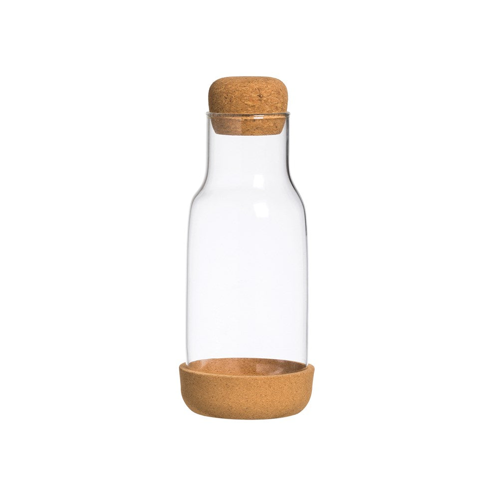 Glass Carafe With Cork Base & Lid