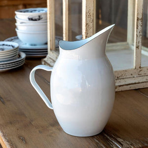Farmhouse Enamel Pitcher