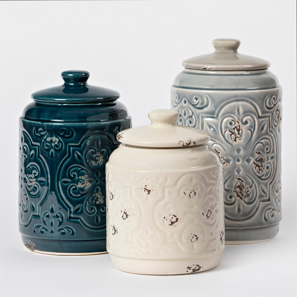 3 pc Quilt Canister Set