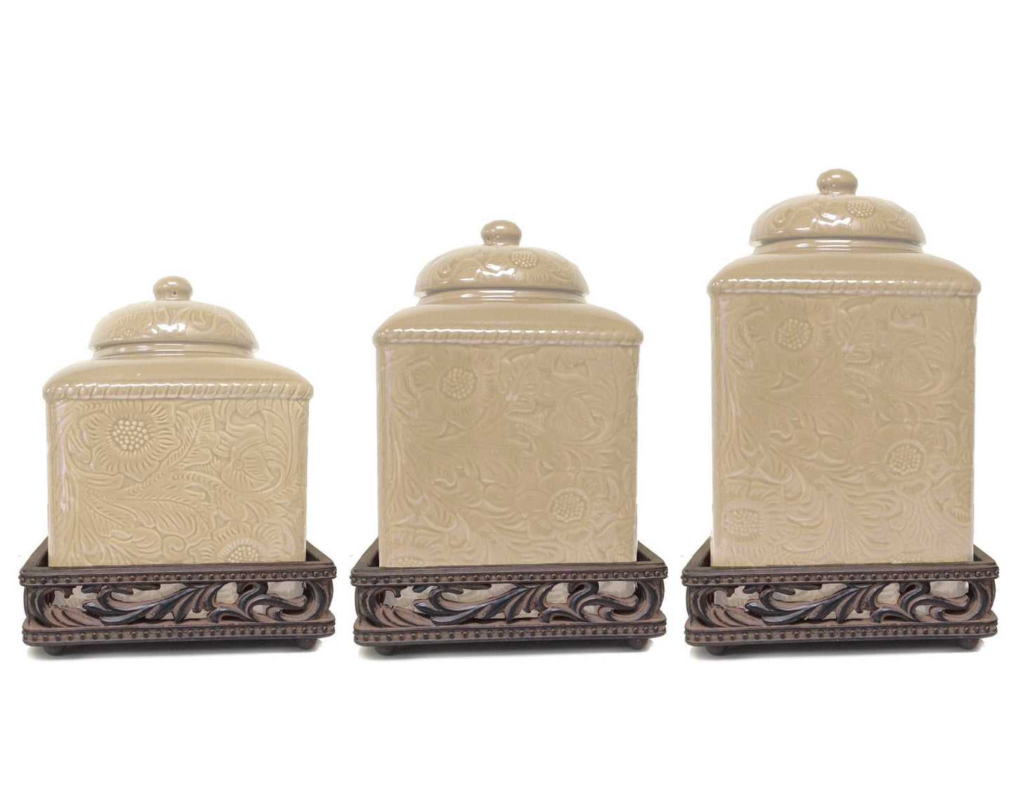 3pc Canister Set - Cream