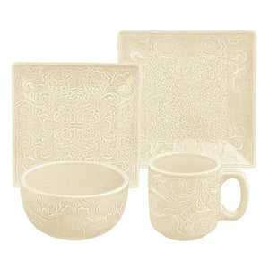 4pc Place Setting - Cream