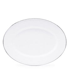 Load image into Gallery viewer, Enamel Oval Tray - White