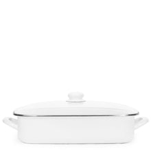 Load image into Gallery viewer, Enamel Roasting Pan - White