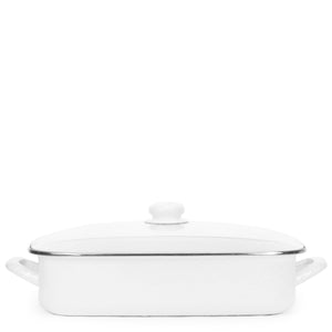 Enamel Roasting Pan - White