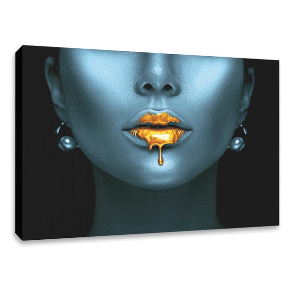 Cuadro Decorativo Artistico Women Face Neon