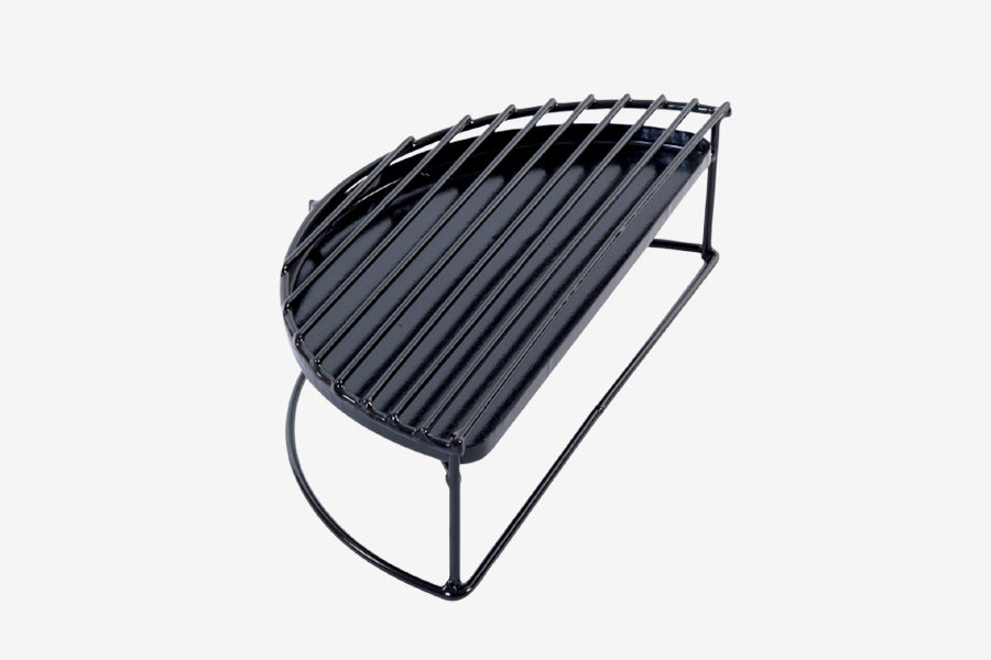 Big Green Egg Half Moon Raised Grid with Drip Pan