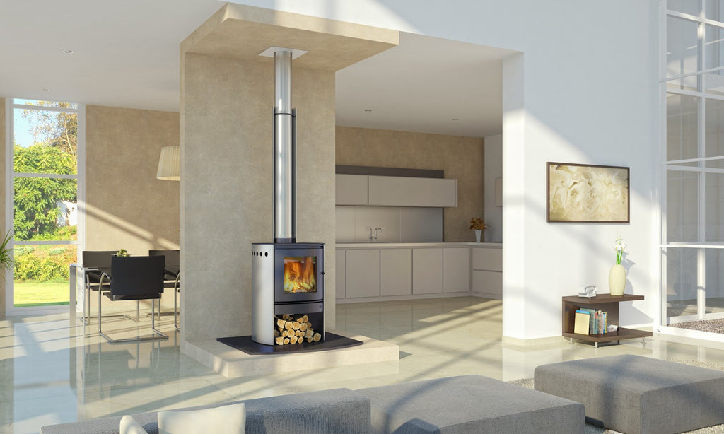 Bosca Spirit 550 Stainless Wood Burner Front