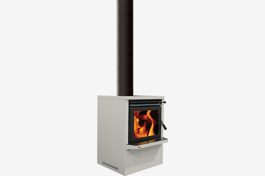 Ethos Galaxy Wood Burner Silver