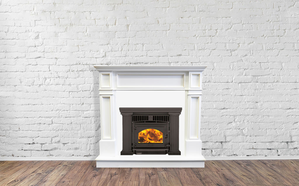 Firenzo Athena Flush Inbuilt Wood Fireplace Front