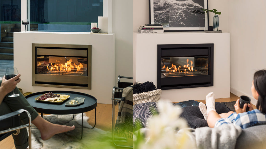 Living Flame Brooklyn Inbuilt Gas Fireplace Front