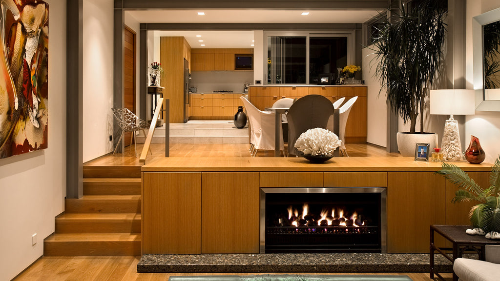 Living Flame Thermoflow Gas Fireplace Front