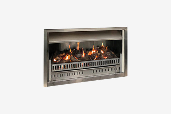 Living Flame Aura Outdoor Gas Fire Clearcut