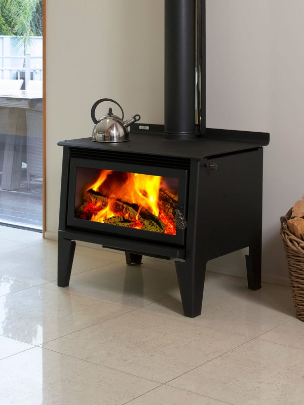 Metro Mega Rad Wood Burner Front
