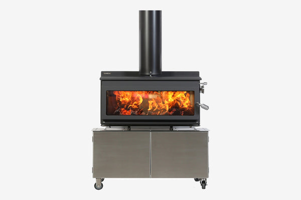 Metro 850T Outdoor Wood Fire Clearcut