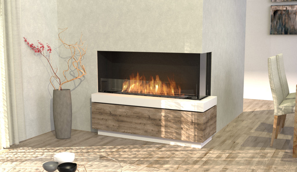 Ecosmart Flex 50RC Right Corner Fireplace Front