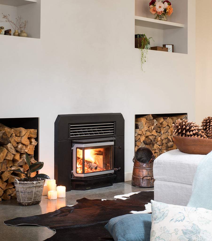 Firenzo Forte Bay Inbuilt Wood Fireplace Front