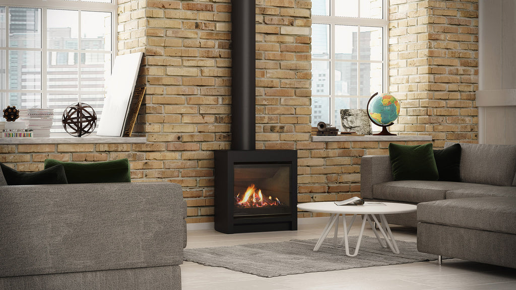 Escea DFS730 Gas Fire Left Side