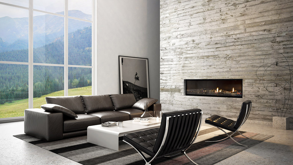Escea DX1500 Single Sided Gas Fire Right Side