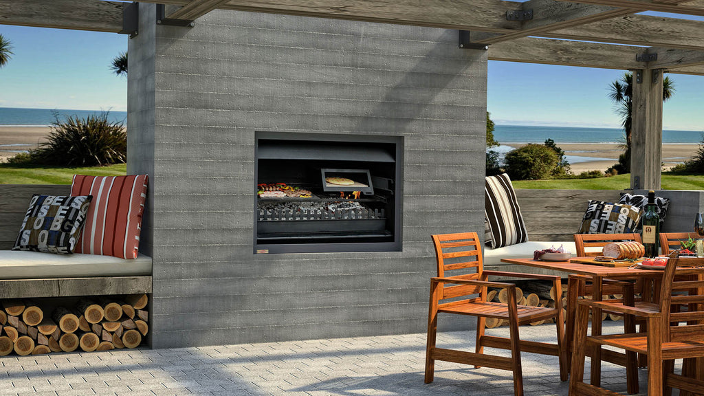 Jetmaster Quadro Outdoor Wood Fire Lifestyle