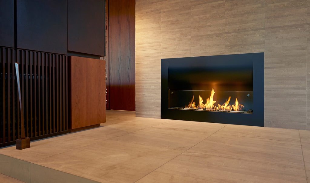 Ecosmart 1100CV Curved Fireplace Front