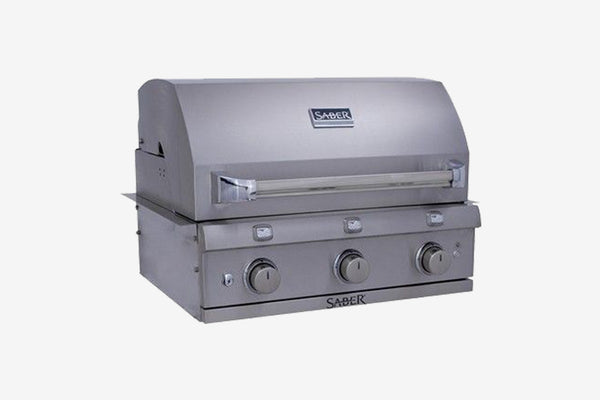 Saber Stainless Steel 3 Burner Built-In Gas Grill