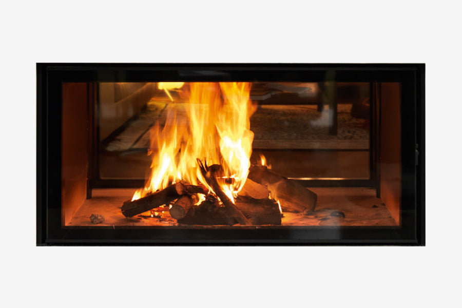 Spartherm Double Sided Inbuilt Wood Fire