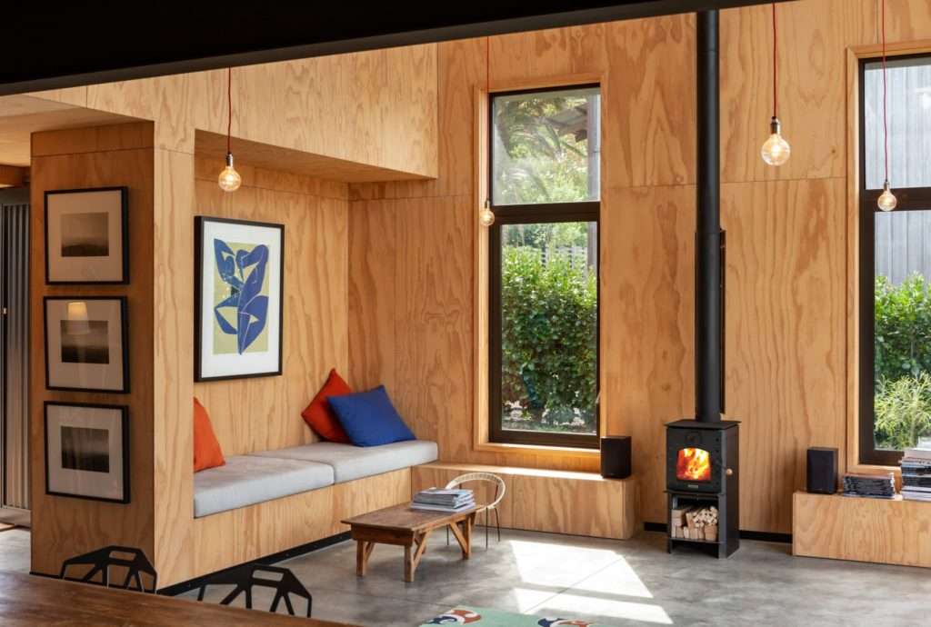 Warmington Studio Freestanding Wood Fire Front