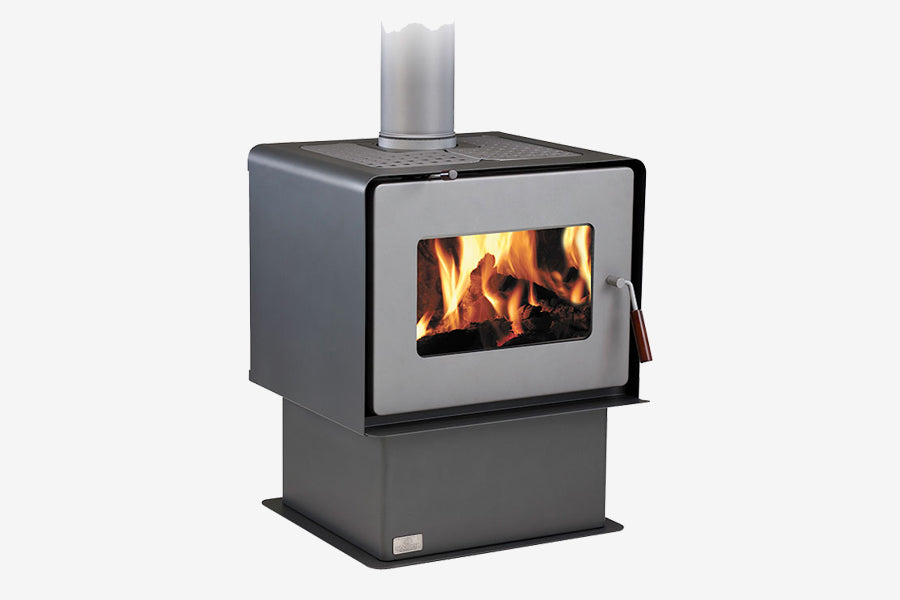 Woodsman Flare Charcoal Pedestal Wood Burner Side