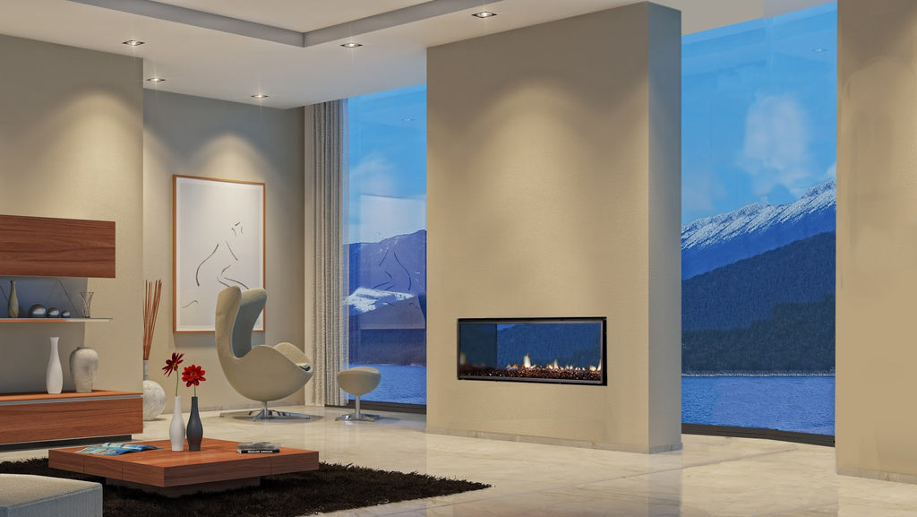 Escea DX1000 Double Sided Gas Fire Right Side 2