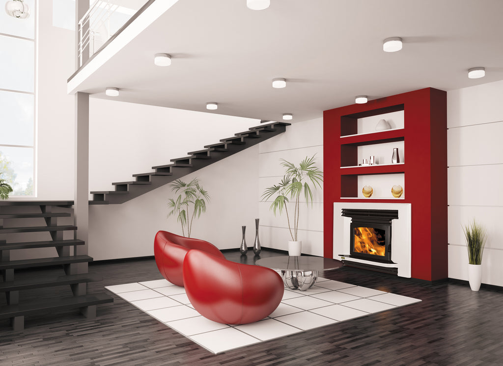 Ethos Ares Inbuilt Wood Fireplace Right Side