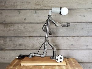 Soccer Player Pipe Lamp